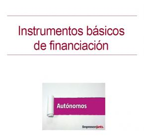 portada Manual para Autónomos: Instrumentos básicos de financiación