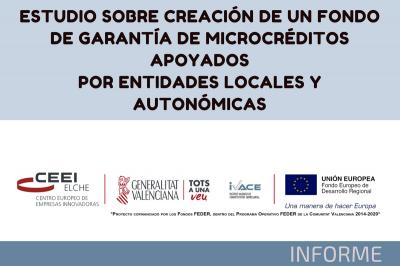 ESTUDIO SOBRE CREACIÓN DE UN FONDO DE GARANTÍA DE MICROCRÉDITOS APOYADOS POR ENTIDADES LOCALES Y AUTONÓMICAS