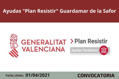 """Ayudas """"Plan Resistir"""" en Guardamar de la Safor"""