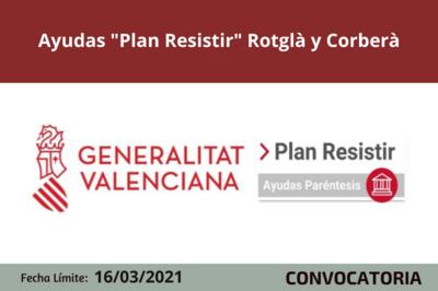 """Ayudas """"Plan Resistir"""" en Rotglà y Corberà"""