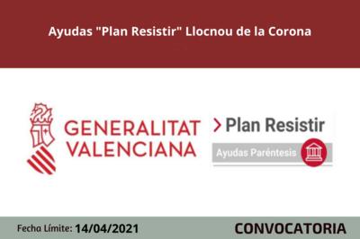 """Ayudas """"Plan Resistir"""" Llocnou de la Corona"""