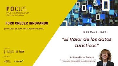 La experta en datos abiertos, Antonia Ferrer, será la encargada de abrir la segunda edición del Foro Crecer Innovando Creama